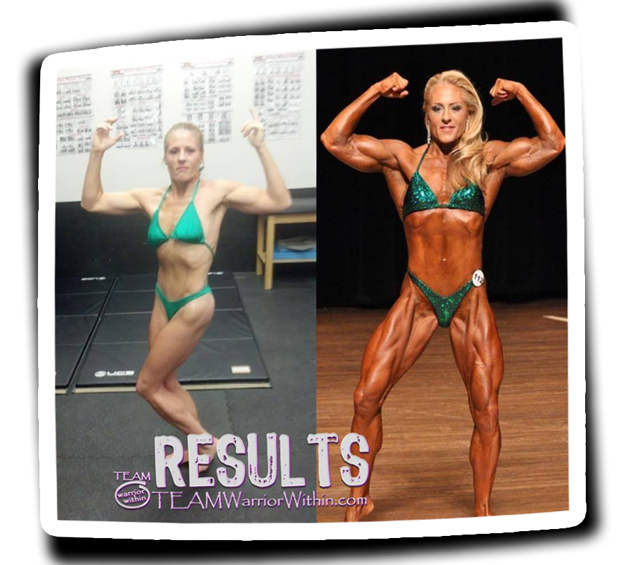 Donna McGinn - Before & After Shot - Womens Bodybuilding IFBB Pro - Maryland